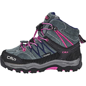 CMP Campagnolo Rigel Mid WP Trekking Shoes Kids grey-hot pink